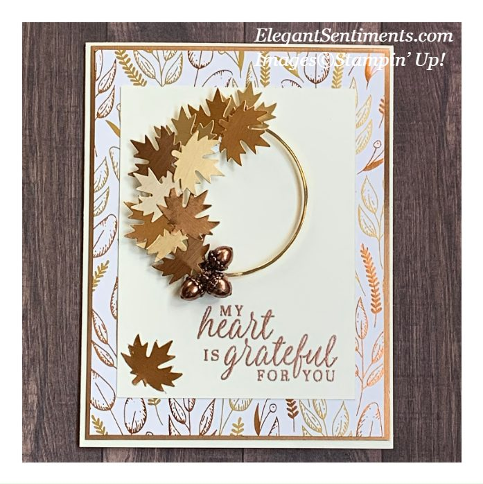 Autumn themed gratitude card made with Stampin' Up! products