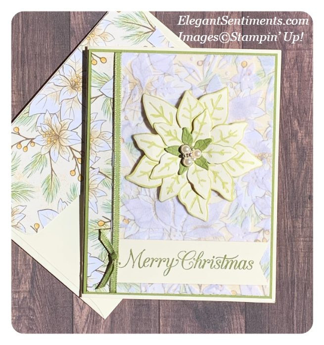 Christmas Card and Envelope made using Stampin' Up! products