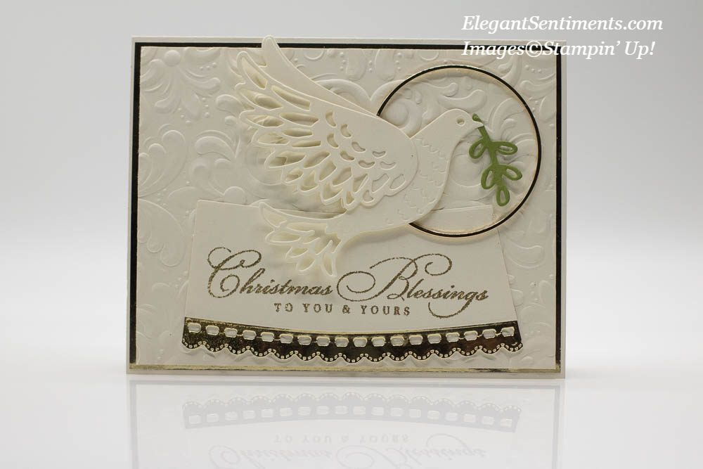 Christmas card made with Stampin' Up! products