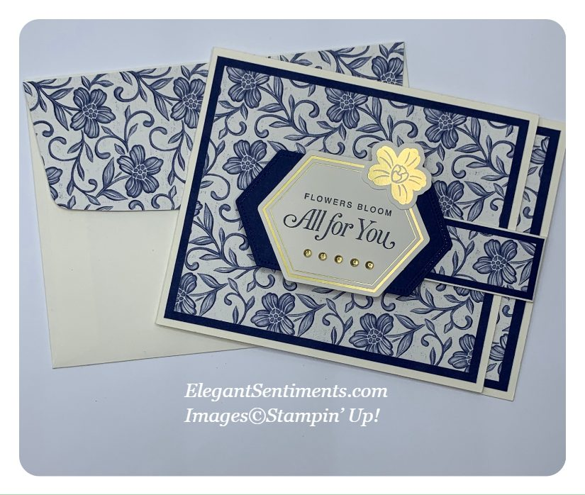Greeting card and coordinated envelope made with Stampin' Up! products