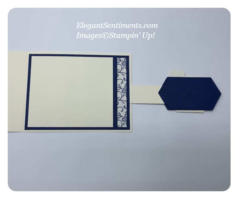 Inside of a lever card made with Stampin' Up! products