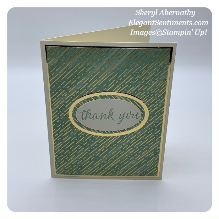 Thank you card made with Stampin' Up! cards