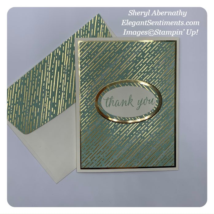 Thank you card with coordinated envelope made with Stampin' Up! products
