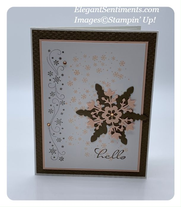 Snowflake Hello card made with Stampin' Up! products