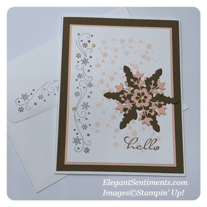 Hello greeting card and coordinating envelope made with Stampin' Up! products