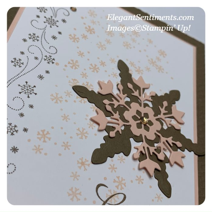 Close Up of a Hello Greeting Card made with Stampin' Up! products