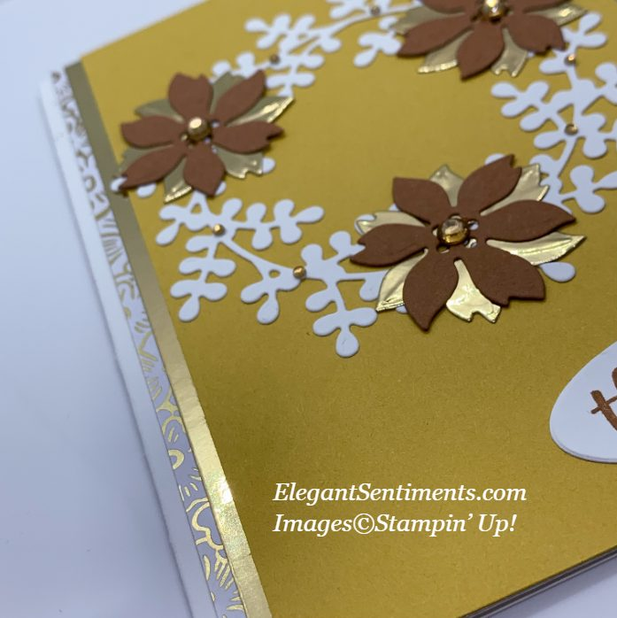 Close up of a greeting card made with Stampin' Up!