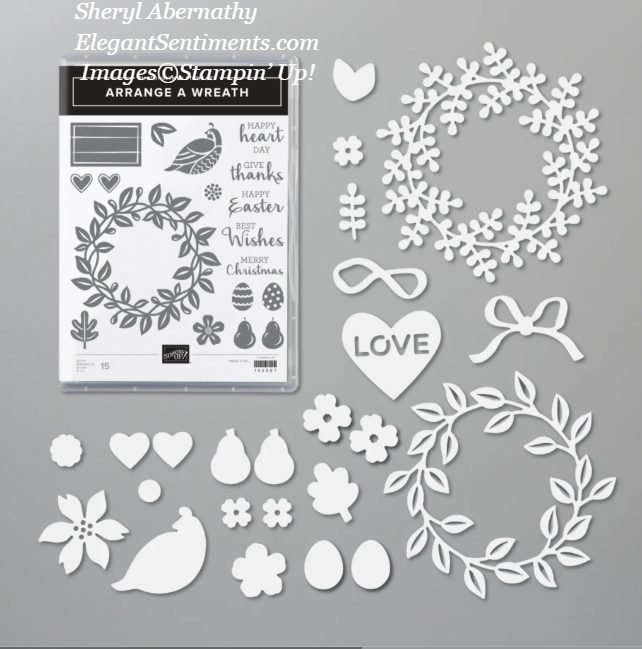 Arrange a Wreath Bundle contents from Stampin' Up!