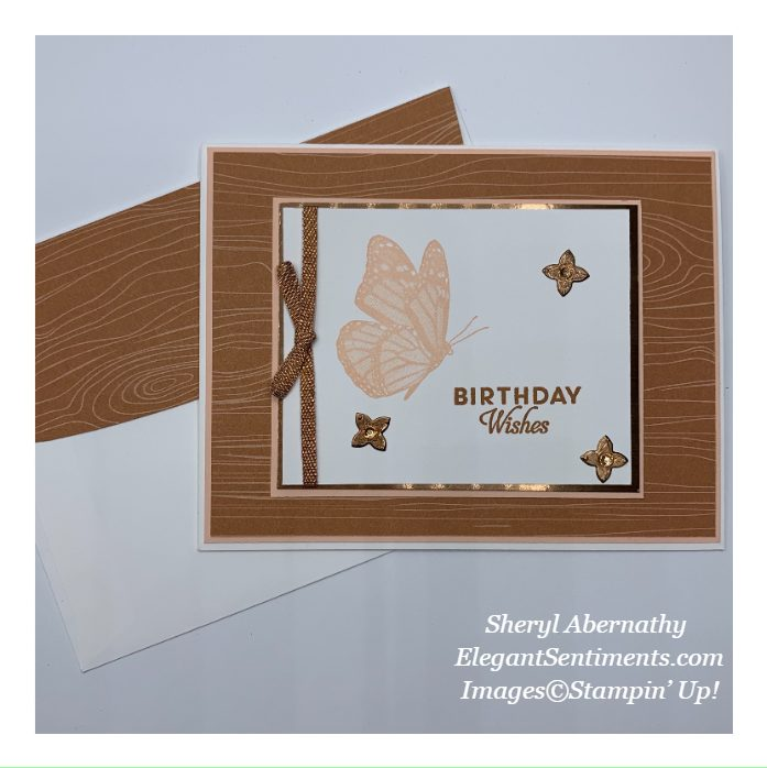 Birthday card with coordinated envelope made with Stampin' Up! products
