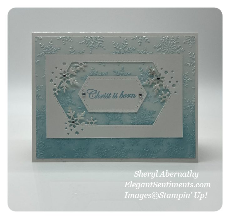 Christmas Snowflake card made with Stampin' Up! products