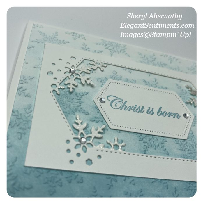 Close up of a Christmas card made with Stampin' Up! product