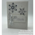 Holiday greeting card made with Stampin