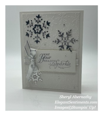 Silvery Snowflake Wishes
