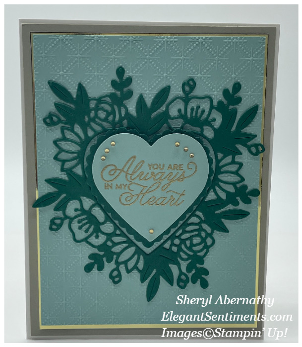 Valentine card made with Stampin' Up! products