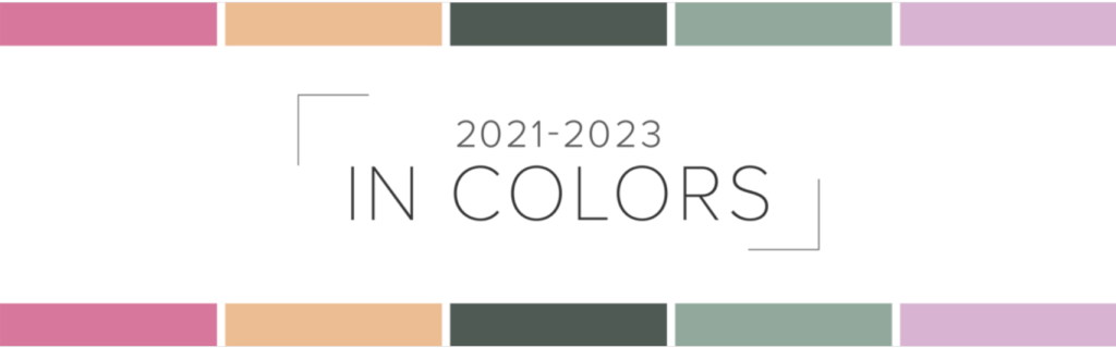 2021-2023 Banner showing new colors by Stampin' Up!