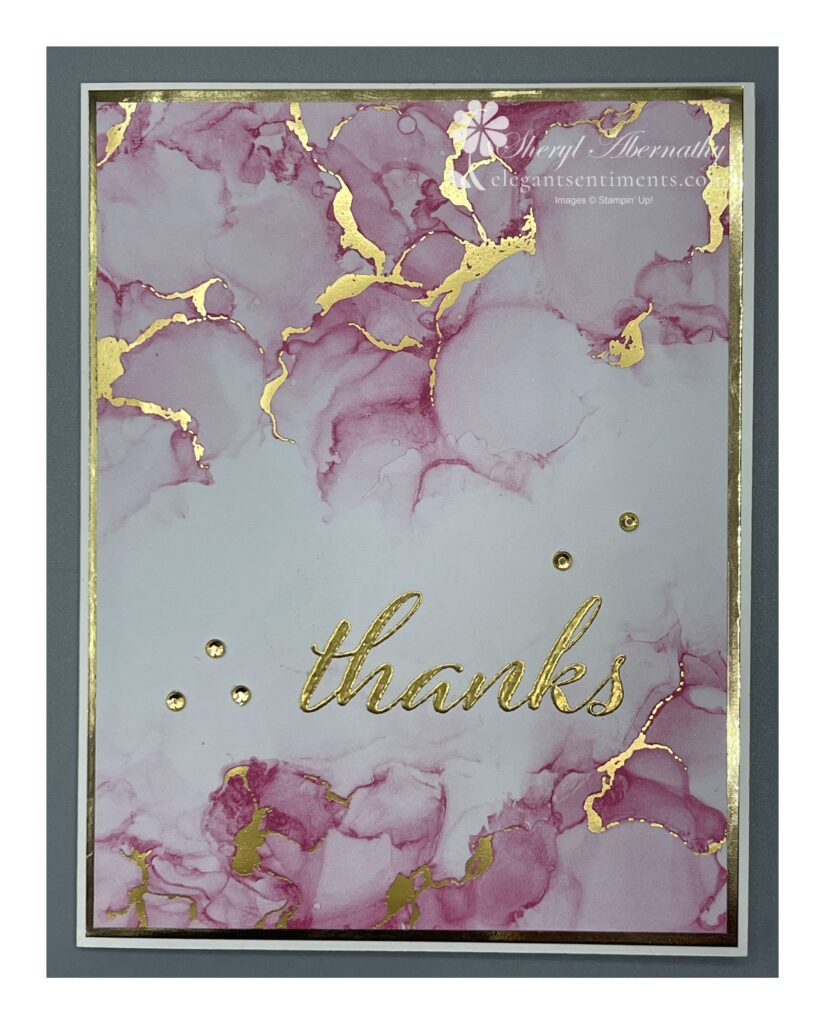 Thanks card made with Stampin' Up! products