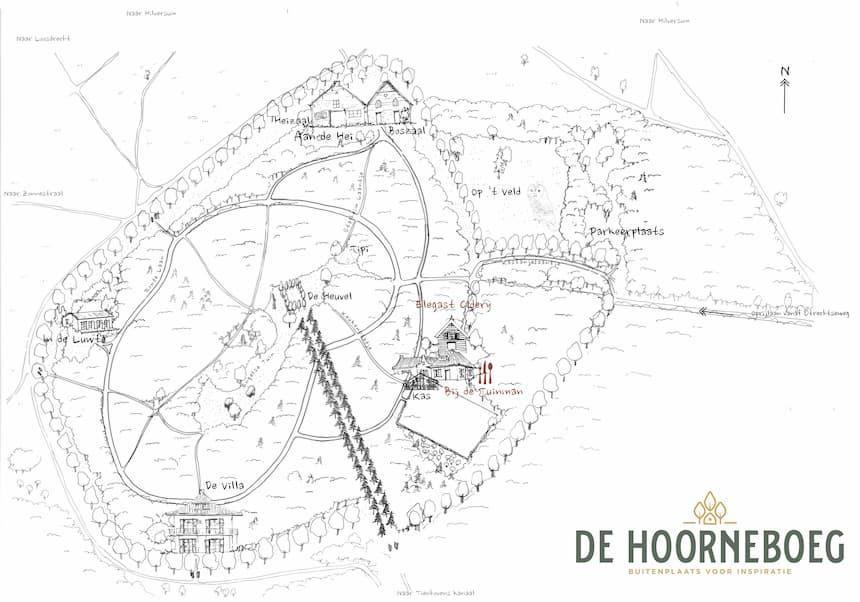 De Hoorneboeg kaart