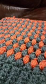 puff stitch grey and orange