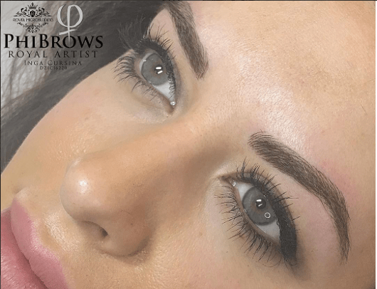 after phi brows microblading