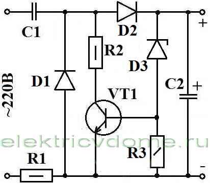 odnopoluperiodnyj-diodno-kondensatornyj-bestransformatornyj-vyprjamitel