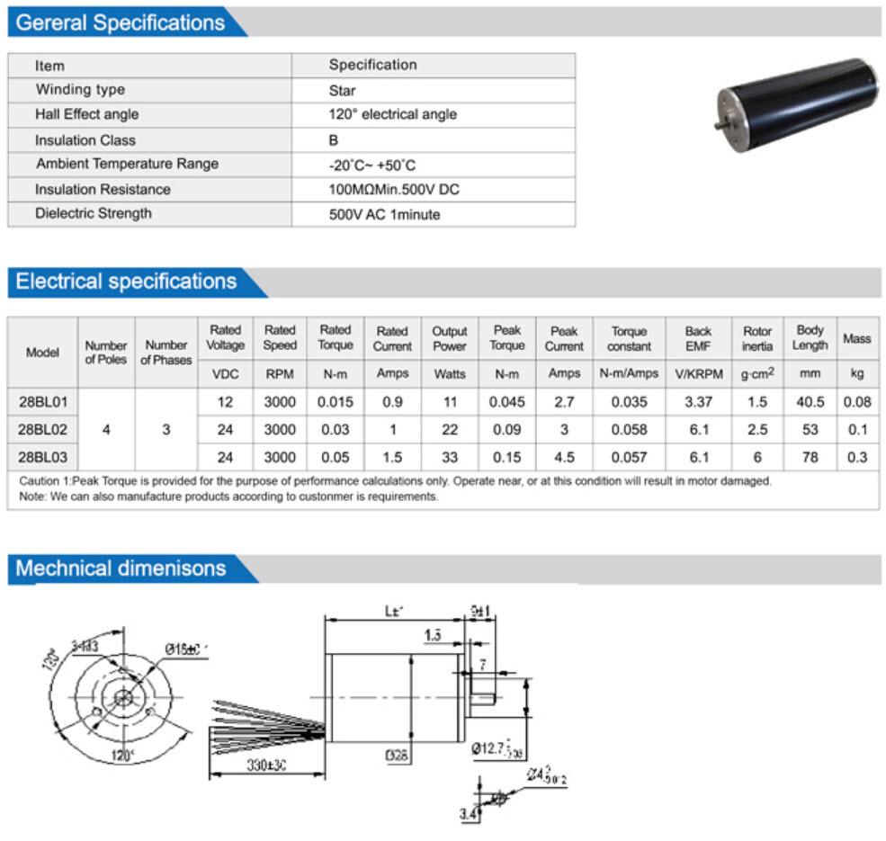 28BL Brushless Dc Motor