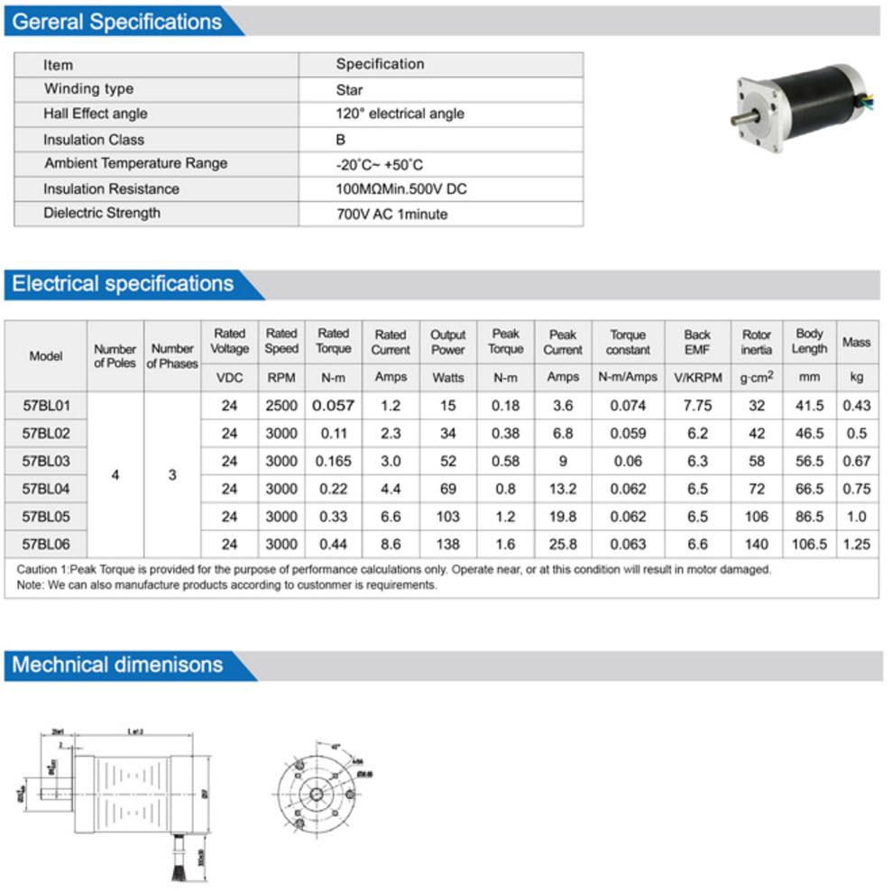 57BL Brushless Dc Motor