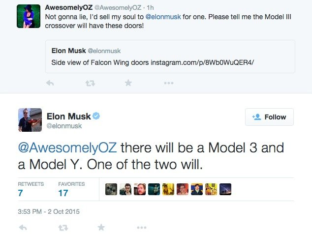 Elon Musk kündigt Tesla Model Y an.