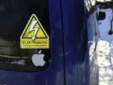 Elektroauto-Sticker Elektroautor.com