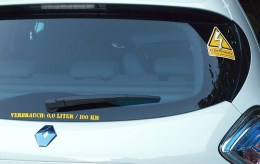Elektroauto-Sticker
