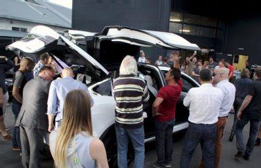 Model X bei der Premiere von ecar-rent in der Steiermark. Foto: Volker Adamietz / Elektroautor.com