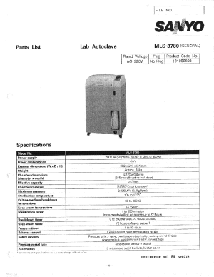 SANYO MLS3780 PARTS LIST Service Manual download, schematics, eeprom, repair info for