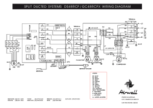AIRWELL DS48RCF GC48RCFX WIRINGDIAGRAM Service Manual