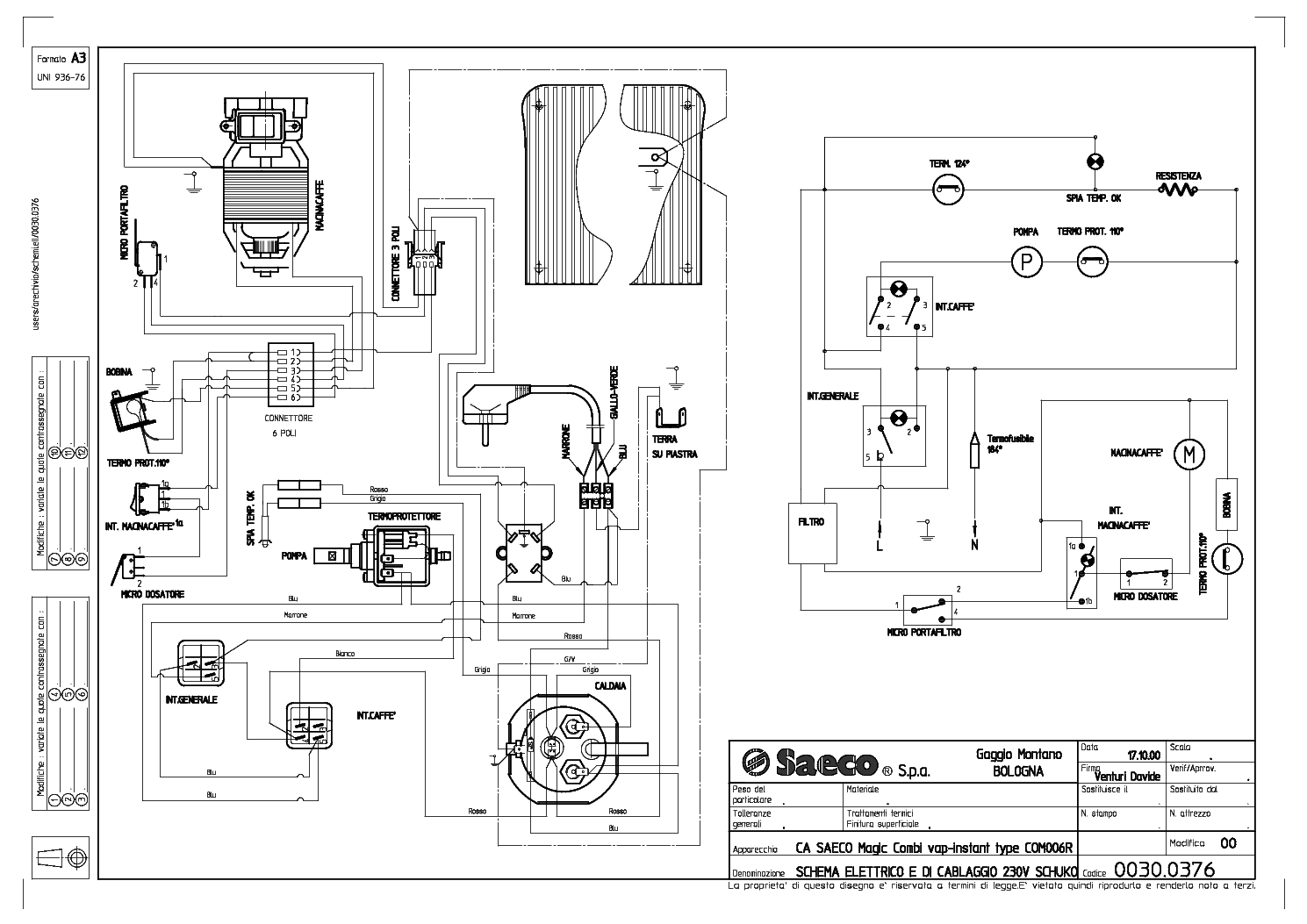 Saeco Incanto Wiring Diagram