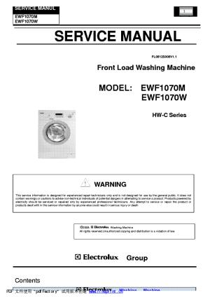 HAIER EWF1070 WASHING MACHINE SM Service Manual download