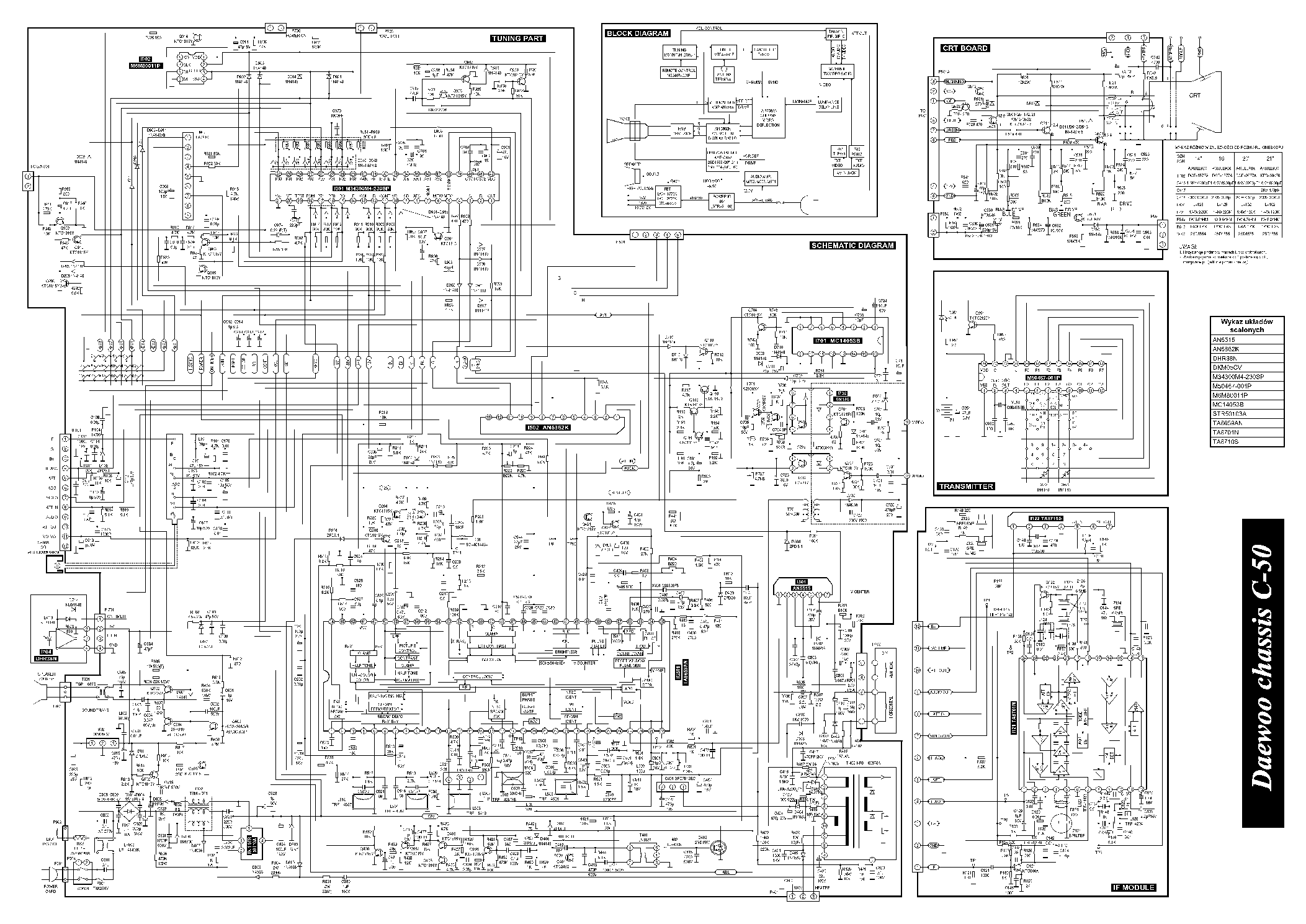 Daewoo Chassis C50 Dmq Sch Service Manual Download
