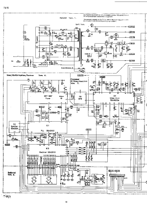 SCHNEIDER CHASSIS TV51 SCHEMATIC DIAGRAM Service Manual