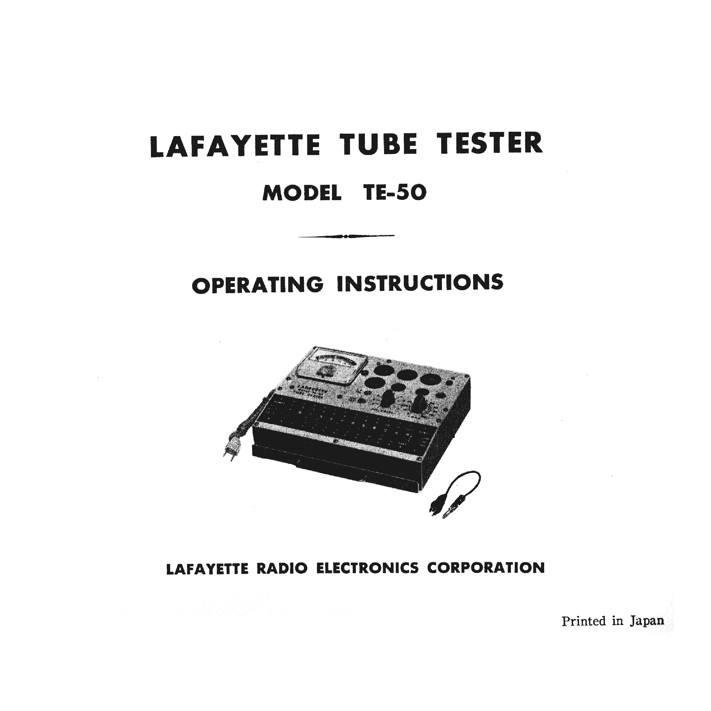 Tube Tester Schematic