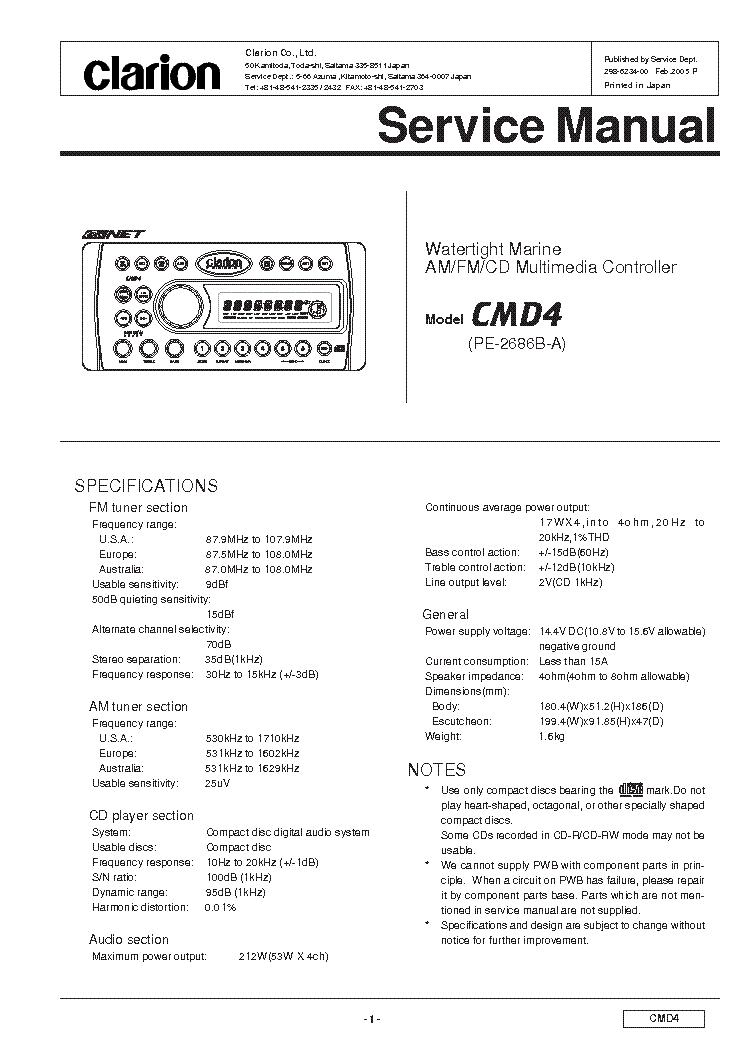 Clarion Xmd3 Stereo Wiring Diagram. Gandul. 45.77.79.119