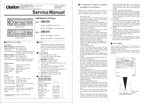 CLARION DB235 335 Service Manual download, schematics