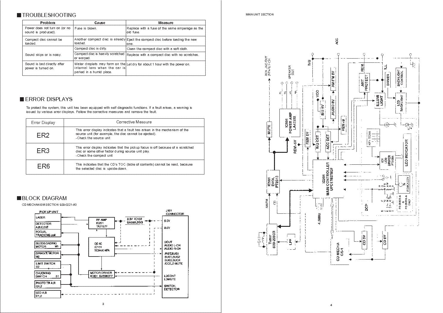 Clarion Db235 335 Service Manual Download Schematics