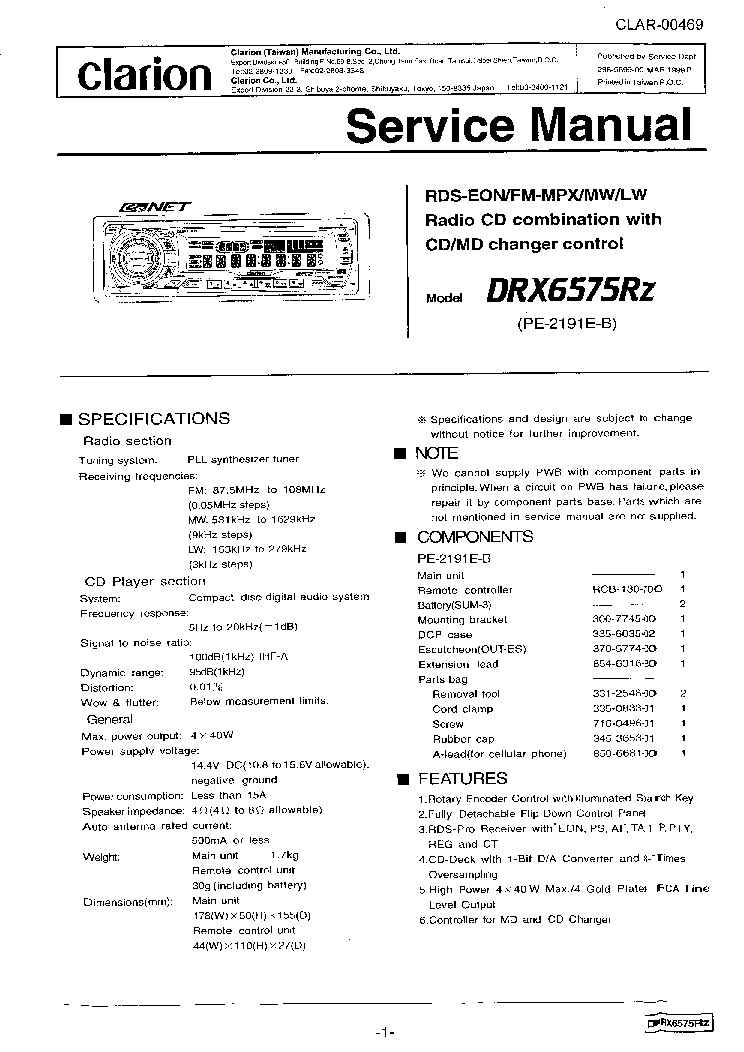 clarion_drx6575rz_sm.pdf_1?resize=665%2C940 clarion dxz545mp wiring diagram kenwood radio diagram, sony clarion cd player wiring diagram at panicattacktreatment.co