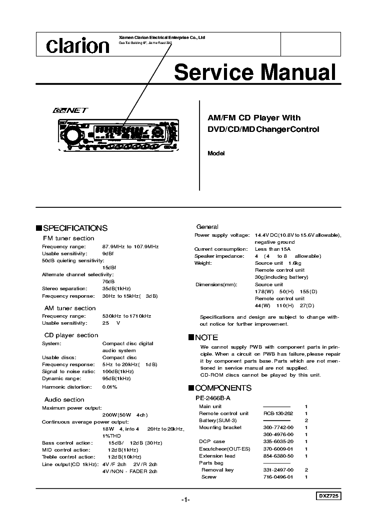clarion_dxz725_sch.pdf_1?resize\=665%2C941\&ssl\=1 clarion dxz545mp wiring diagram roadstar wiring diagram \u2022 45 63 74 91 clarion dxz385usb wiring diagram at arjmand.co