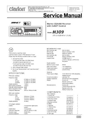 CLARION PH3082HA PH3083HA Service Manual free download