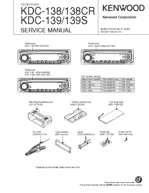 KENWOOD KDC138 CR 139 S SM Service Manual download
