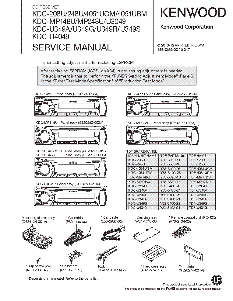 Kenwood Kdc Mp142 Wiring Diagram : Kenwood kdc wiring diagram mp
