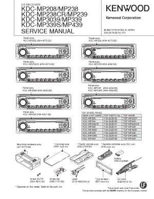 KENWOOD KDCMP208 2382393039339439 Service Manual download, schematics, eeprom, repair info