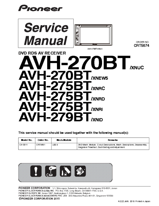 pioneer avhp5980dvd service manual download schematics