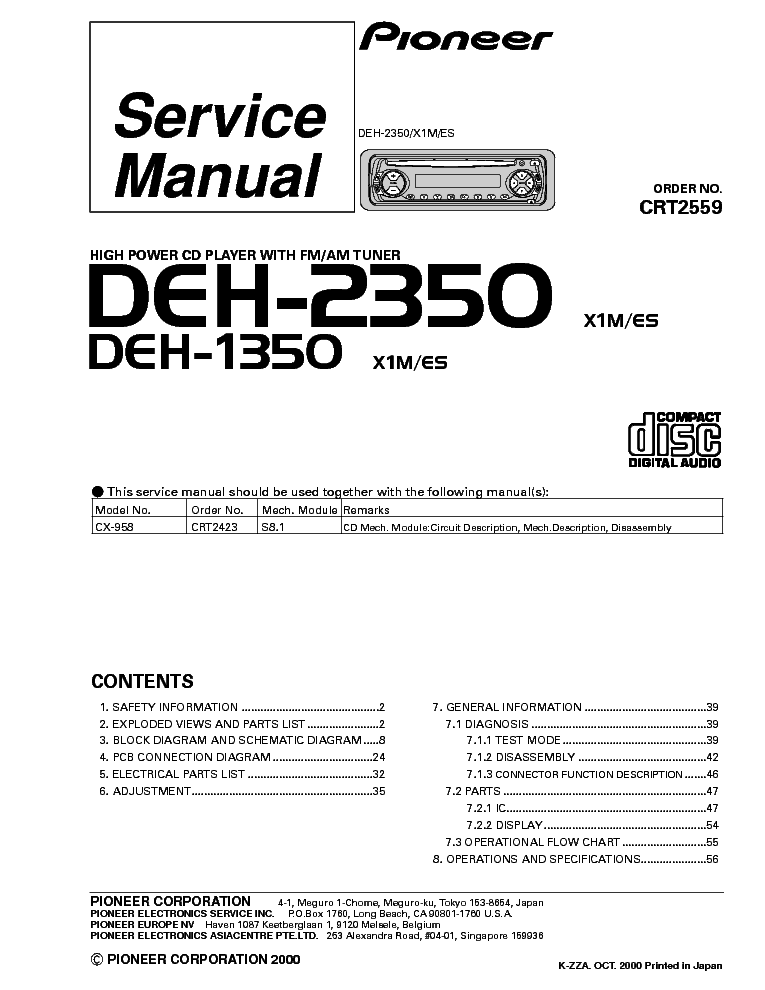 pioneer_deh 2350_1350_car_audio.pdf_1 pioneer deh p4200ub wiring diagram the best wiring diagram 2017 on pioneer deh p7200 wiring diagram at n-0.co