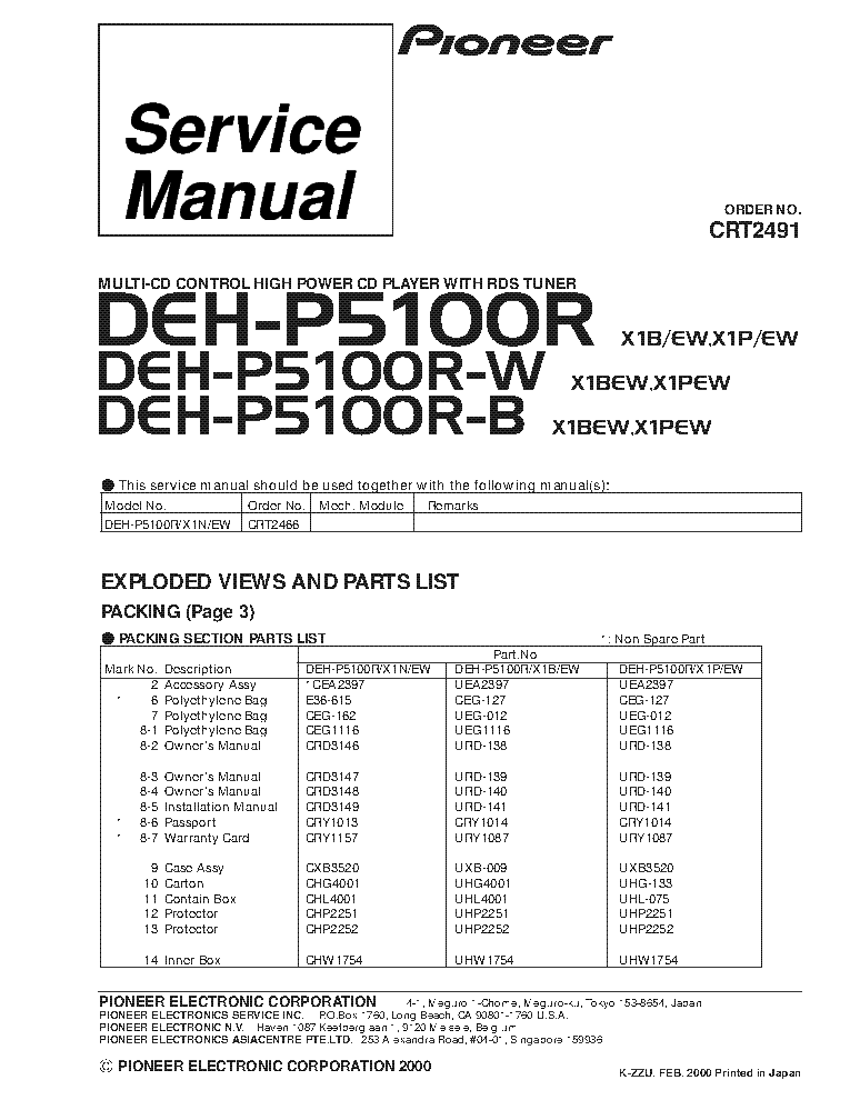 pioneer_deh p5100r_crt2491_supplement.pdf_1 fuse box 21024336 diagram wiring diagrams for diy car repairs  at webbmarketing.co