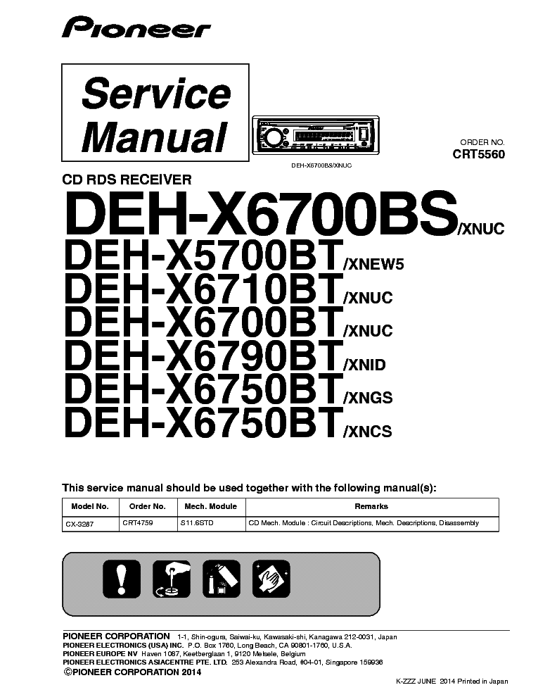 Pioneer Avic D3 Service Manual Download Schematics